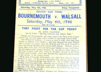 Bournemouth v Walsall 04.05.1946 (South Cup Final)