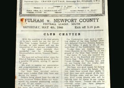 Fulham v Newport 04.05.1946