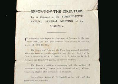 Walsall FC Accounts 30.06.1946