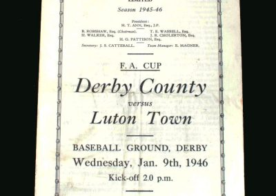 Derby v Luton 09.01.1946 (FA Cup 3rd Round 2nd Leg)
