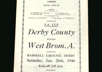 Derby v West Brom 26.01.1946 (FA Cup 4th Round)