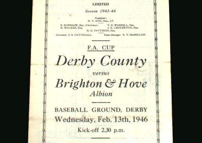 Derby v Brighton 13.02.1946 (FA Cup 5th Round)
