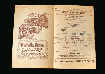 Derby v Aston Villa 02.03.1946 (FA Cup 6th Round 1st Leg)