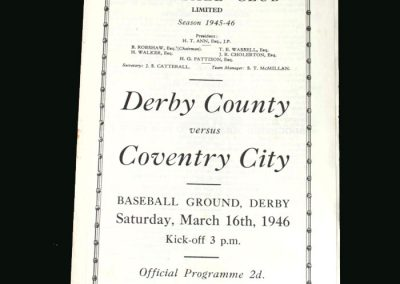 Derby v Coventry 16.03.1946