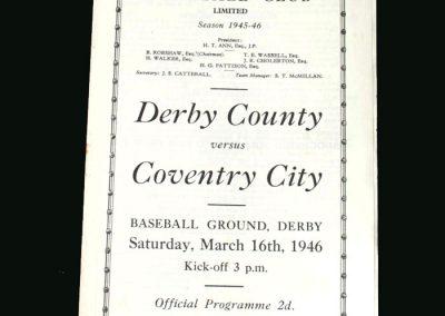 Derby v Coventry 16.03.1946