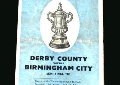 Derby v Birmingham 23.03.1946 (FA Cup Semi Final 1st Round)