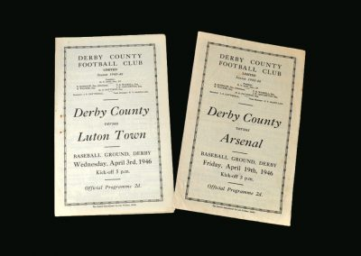 Derby v Luton 03.04.1946 | Derby v Arsenal 19.04.1946