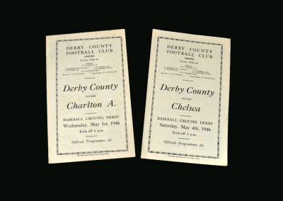 Derby v Charlton 01.05.1946 | Derby v Chelsea 04.05.1946