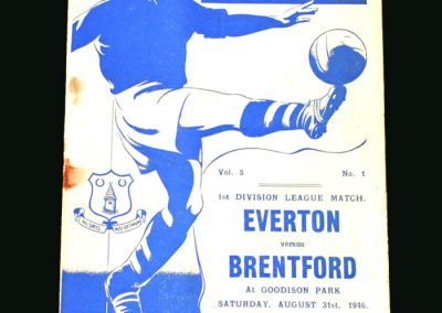 Everton v Brentford 31.08.1946