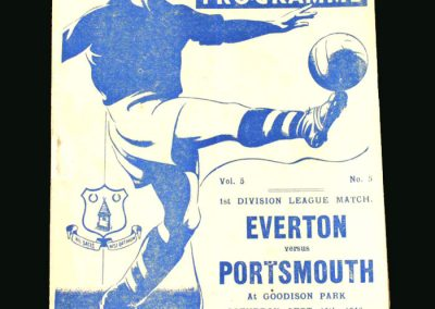 Everton v Portsmouth 14.09.1946