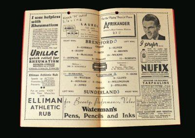 Brentford v Sunderland 21.09.1946