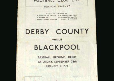 Derby v Blackpool 28.09.1946