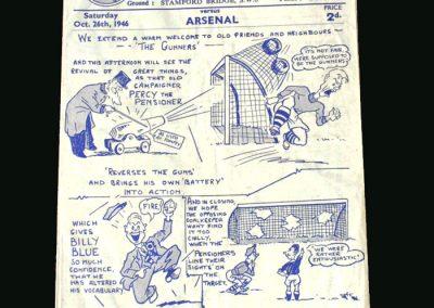 Chelsea v Arsenal 26.10.1946