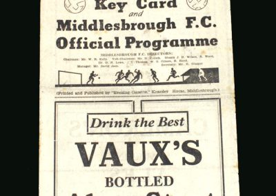Middlesbrough v Sunderland 09.11.1946