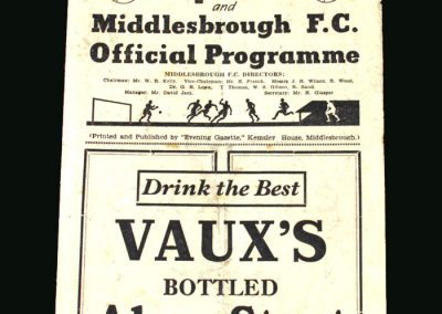 Middlesbrough v Arsenal 07.12.1946