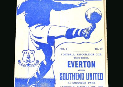 Everton v Southend 11.01.1947 (FA Cup 3rd Round)