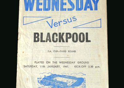 Shef Wed v Blackpool 11.01.1947 (FA Cup 3rd Round)