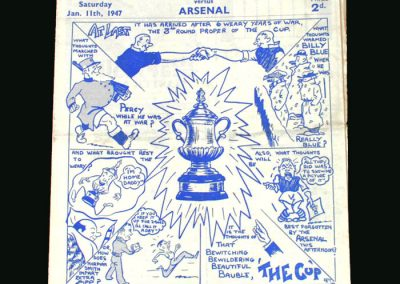 Chelsea v Arsenal 11.01.1947 (FA Cup 3rd Round - Lawton)