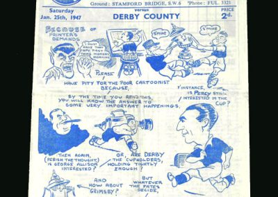 Chelsea v Derby 25.01.1947 (FA Cup 4th Round)