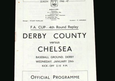 Derby v Chelsea 29.01.1947 (FA Cup 4th Round Replay)