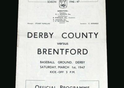 Derby v Brentford 01.03.1947
