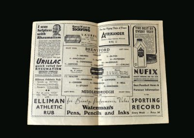 Brentford v Middlesbrough 26.04.1947