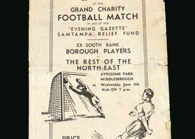 Ex South Bank 11 v Rest of North East 04.06.1947