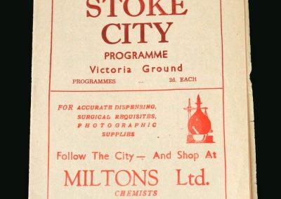 Stoke v Portsmouth 22.03.1947