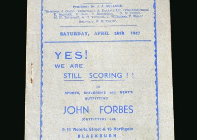 Stoke v Blackburn 26.04.1947