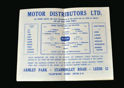 Stoke v Leeds 03.05.1947
