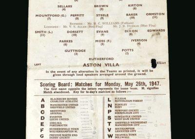 Stoke v Aston Villa 26.05.1947