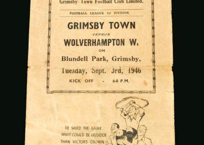 Wolves v Grimsby 03.09.1946