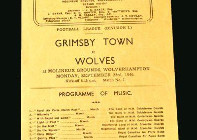 Wolves v Grimsby 23.09.1946