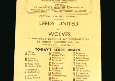Wolves v Leeds 19.10.1946