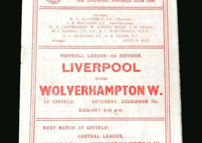 Wolves v Liverpool 07.12.1946
