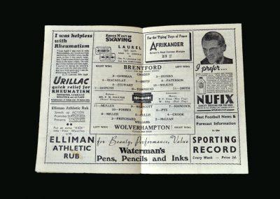Wolves v Brentford 18.01.1947