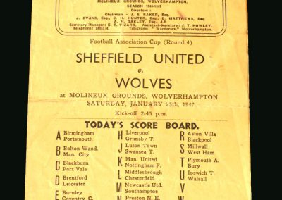 Wolves v Sheff Utd 25.01.1947 (FA Cup 4th Round)