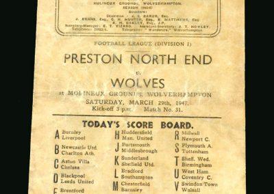 Wolves v Preston 29.03.1947