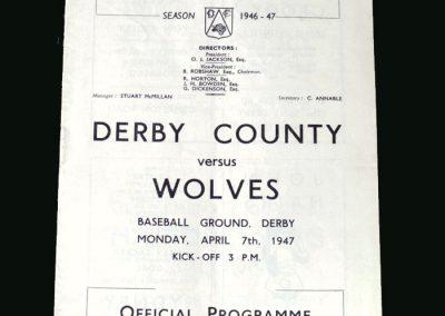 Wolves v Derby 07.04.1947