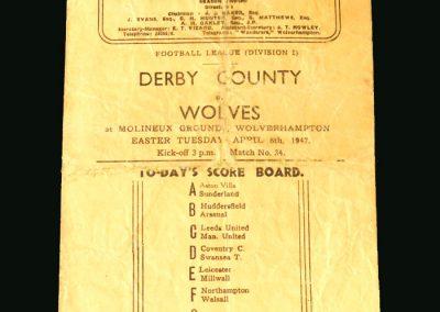 Wolves V Derby 08.04.1947