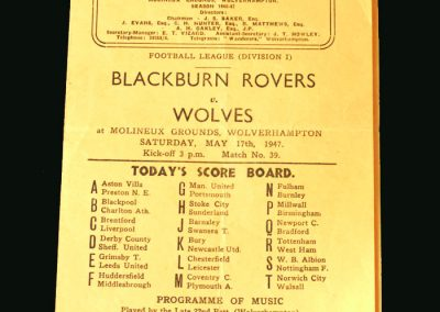 Wolves v Blackburn 17.05.1947