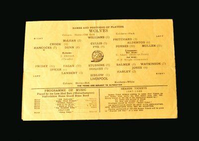 Wolves v Liverpool 31.05.1947