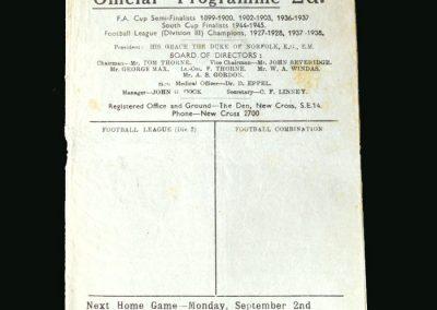 Newcastle v Millwall 31.08.1946