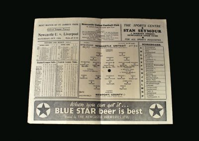 Newcastle v Newport County 05.10.1946 - Wayman misses a penalty when it's 0-0, still scores 4 or 5 and Shackleton gets 6 on his debut.