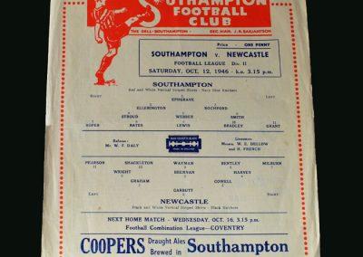 Newcastle v Southampton 12.10.1946