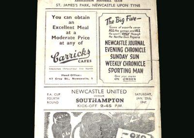 Newcastle v Southampton 25.01.1947 (FA Cup 4th Round)