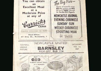 Newcastle v Barnsley 01.02.1947