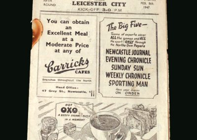 Newcastle v Leicester 08.02.1947 (FA Cup 5th Round)