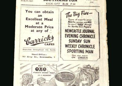 Newcastle v Southampton 15.02.1947