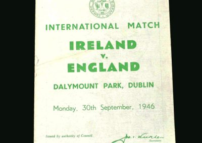 Republic of Ireland v England 30.09.1946